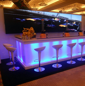 Custom, Light Tradeshow Bar