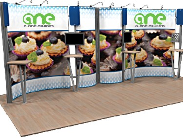 Portable tradeshow booth by A-One Exhibits